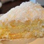 Coconut cake - always a treat!  And the perfect amount for two to share.