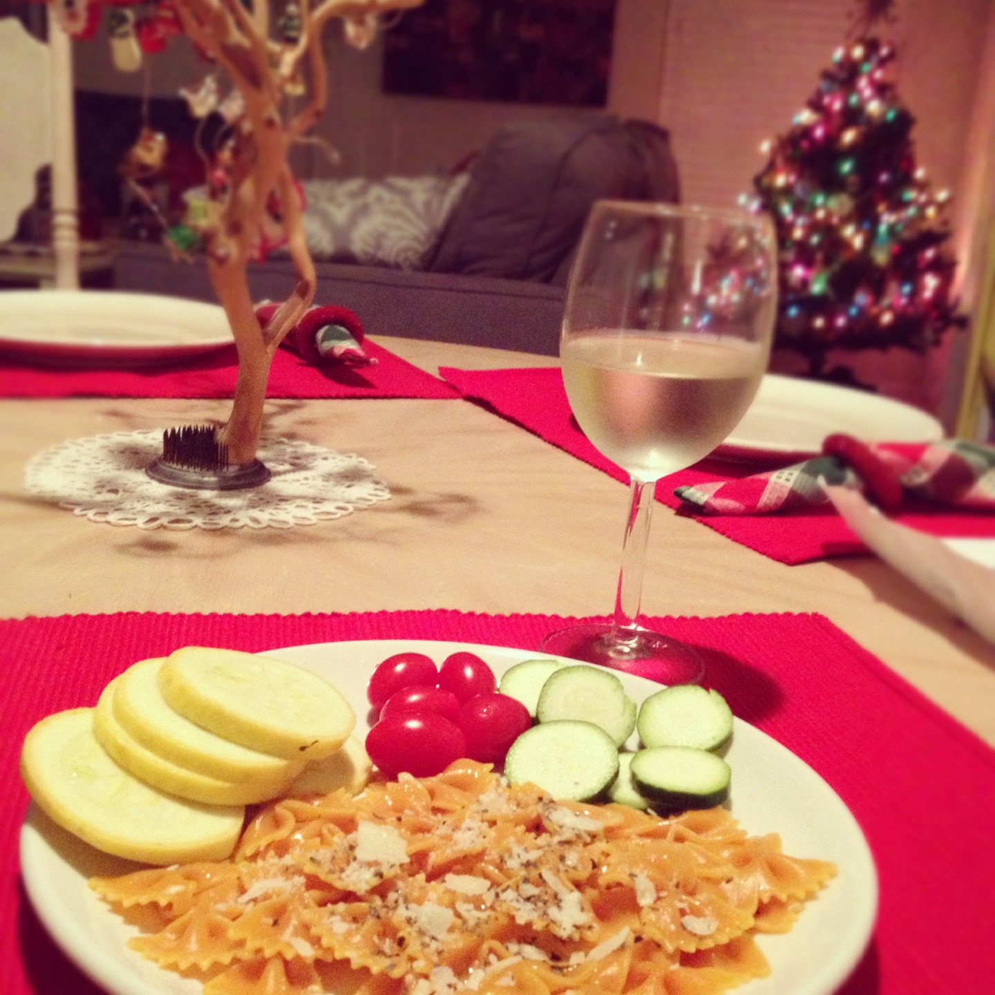 Dinner and My Tree