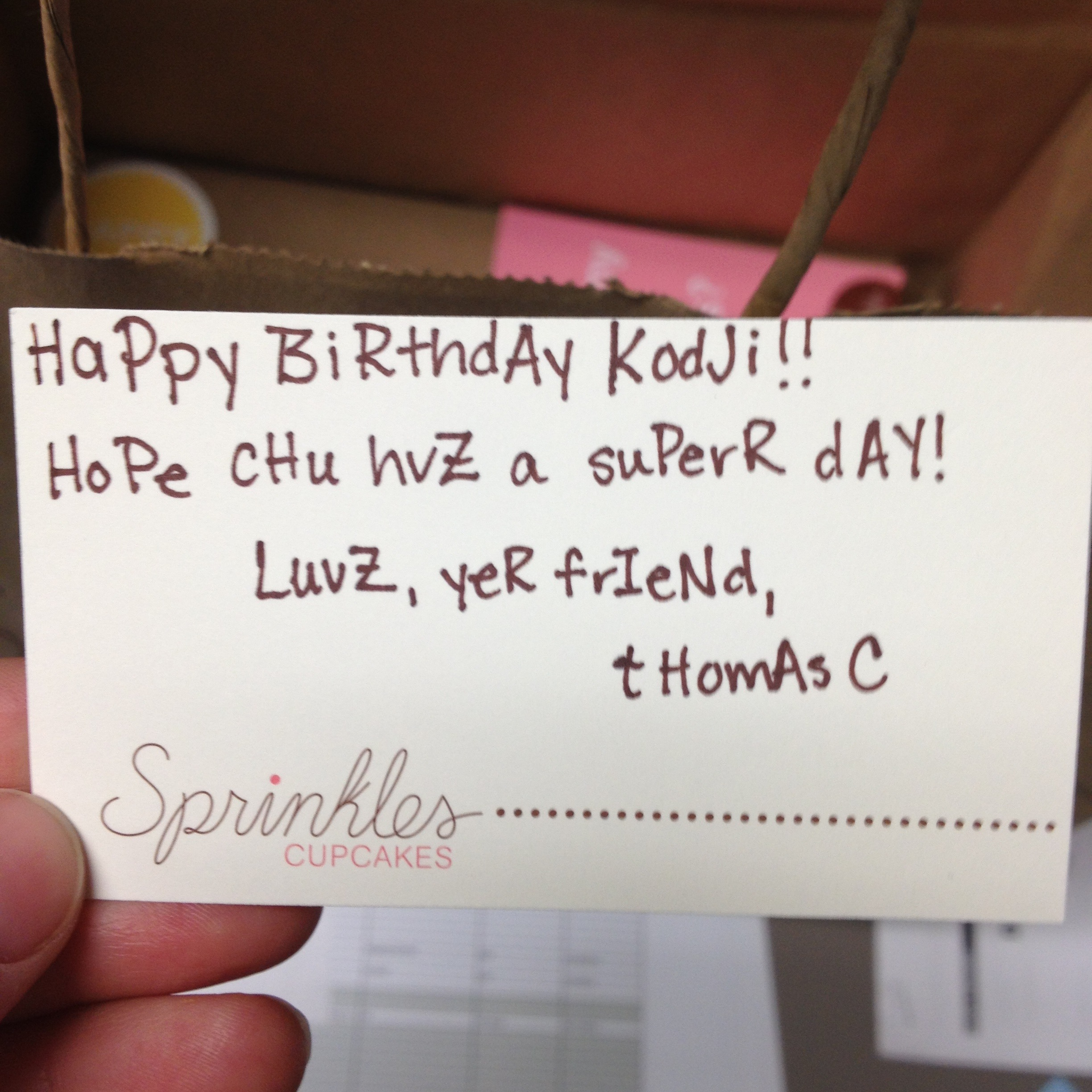 A Bday Note