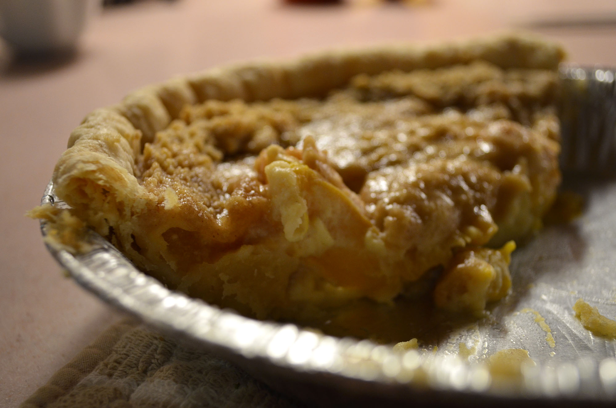 Peach Sour Cream Pie