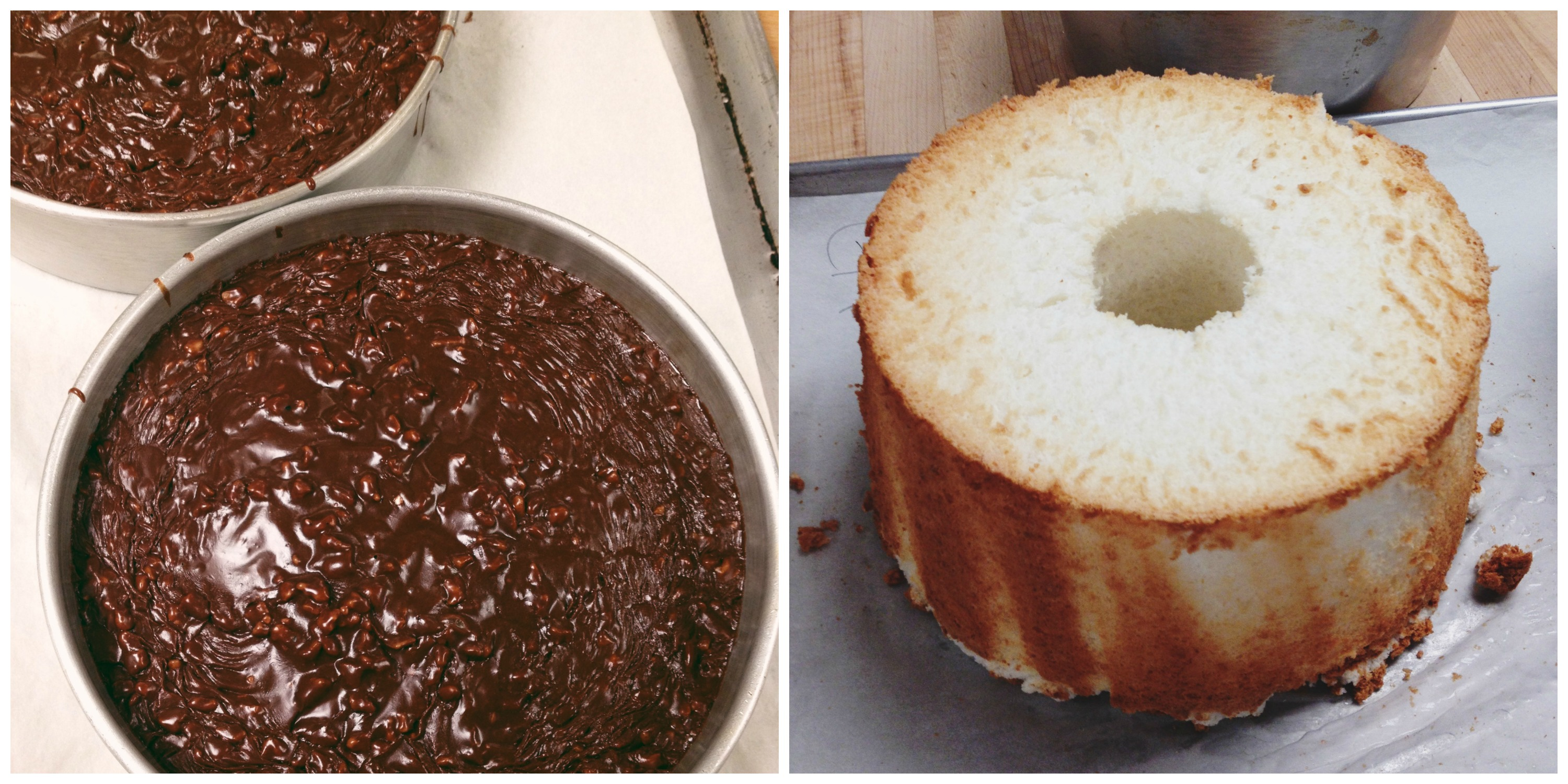 Grandma's Chocolate Cake and Angel Food Cake