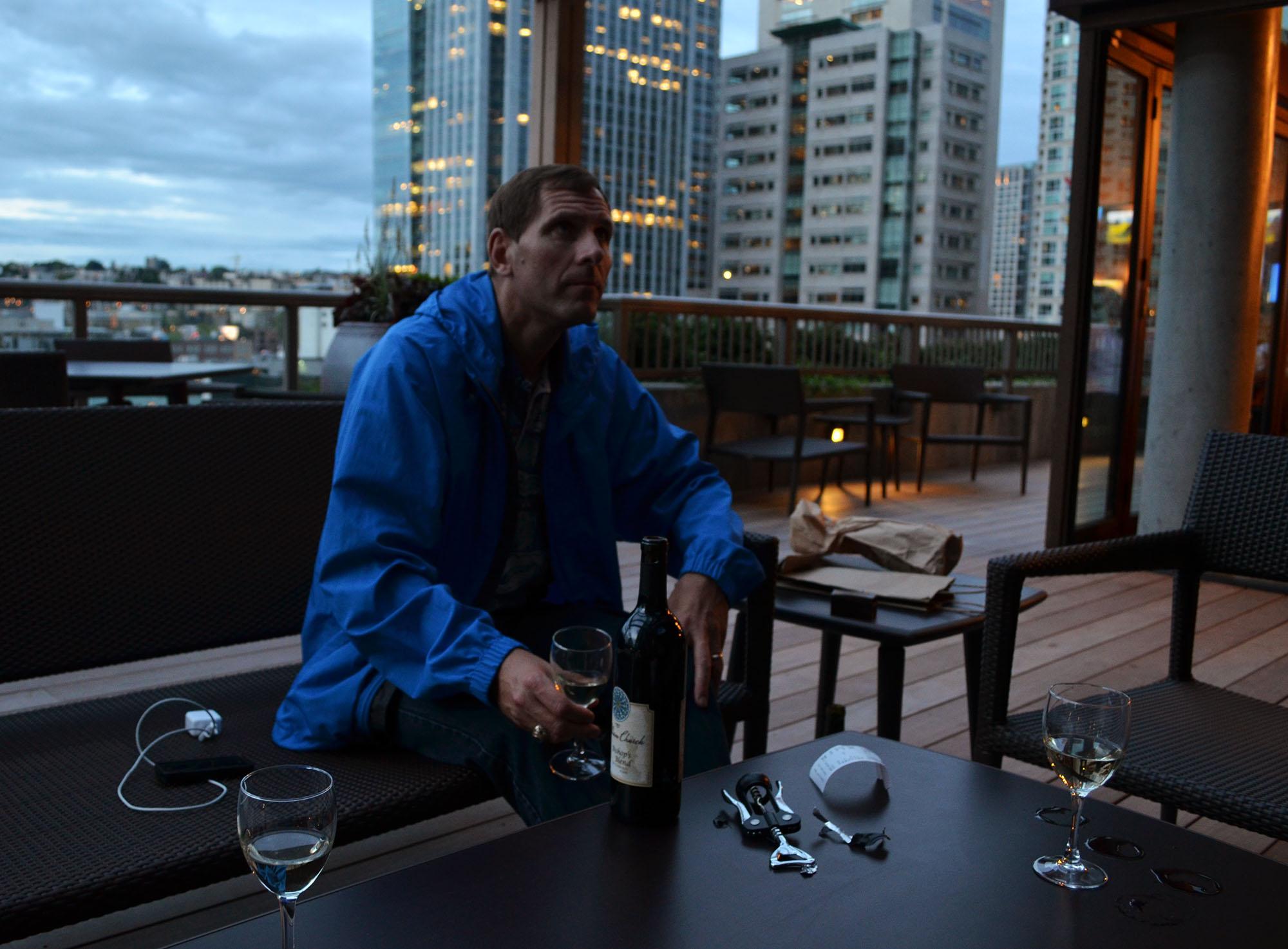 Dad Tasting the Wine