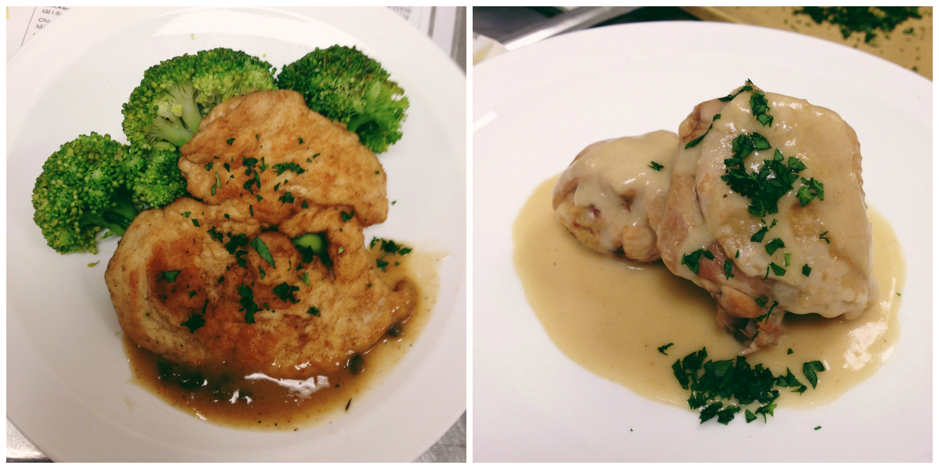Chicken Piccata & Chicken Fricassee