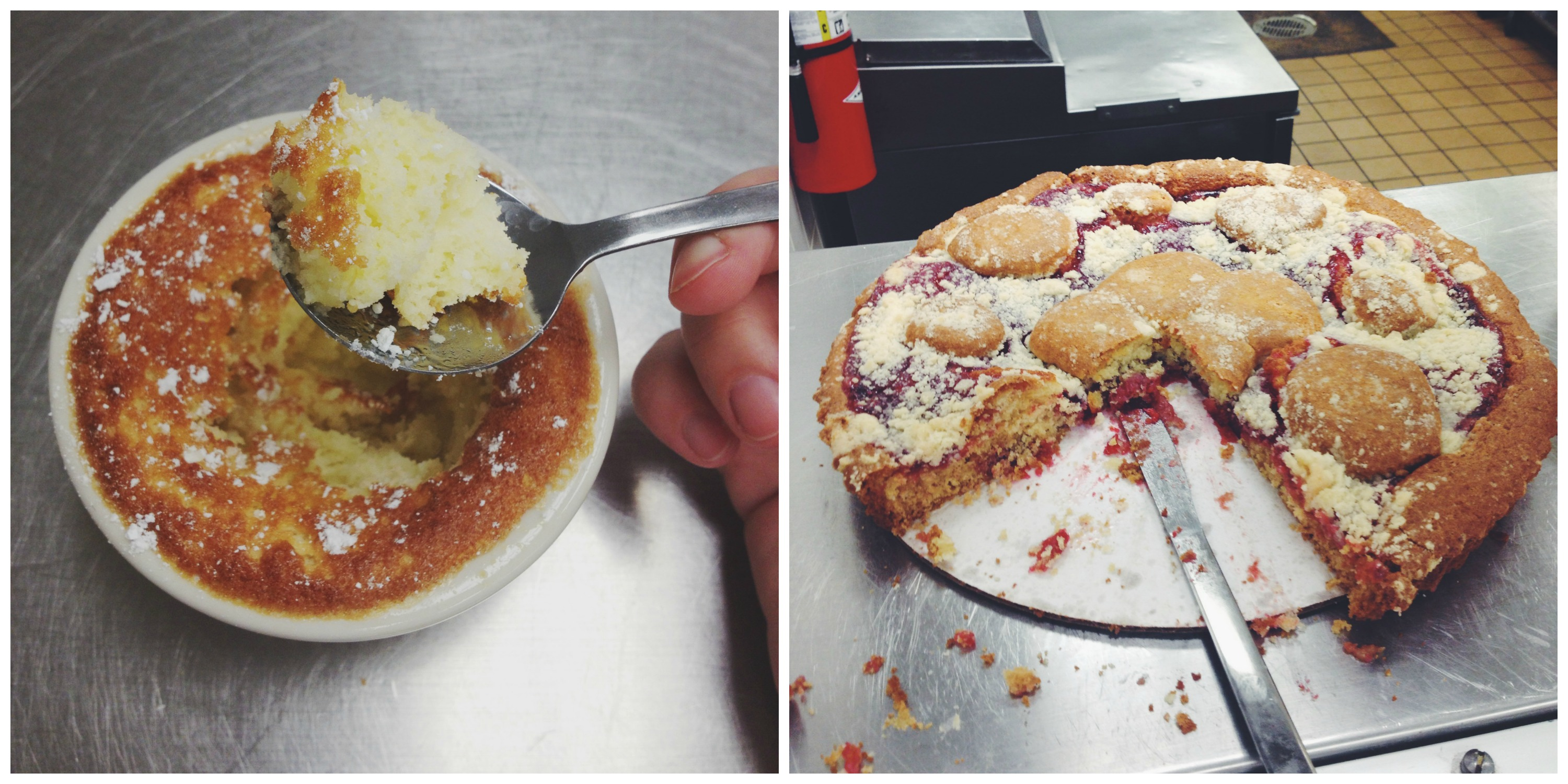 Raspberry Tart + Lemon Something