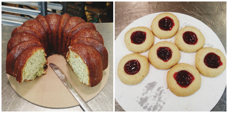 Lemon Poppyseed Bundt + Raspberry Cookies