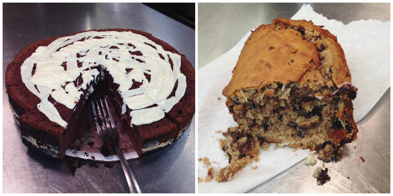 Chocolate Cake + Banana Coconut Walnut Bread