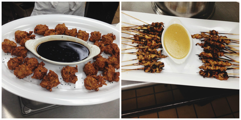 Chicken & Sweet Potato Fritters + Chicken Satay