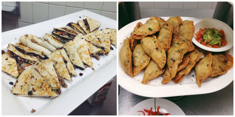 Quesadillas + Spicy Meat Empanadas
