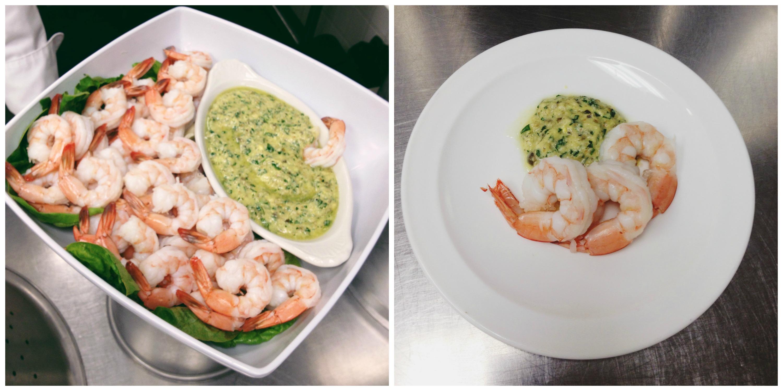 Shrimp con Salsa Verde