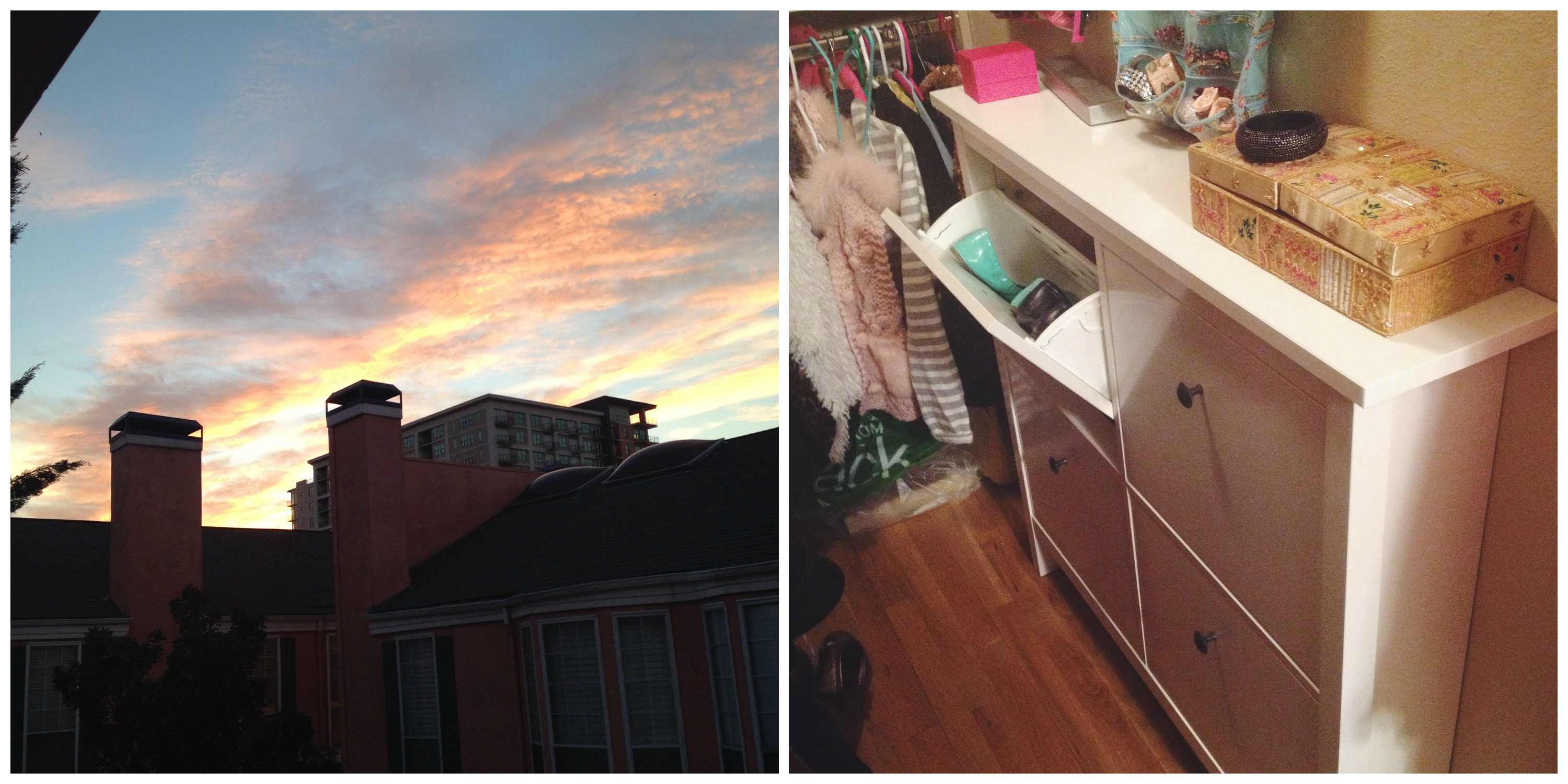 Sunset & Shoe Cabinet