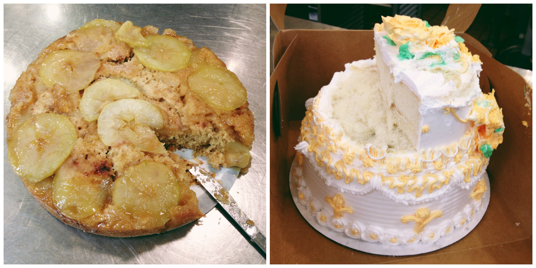 Apple Cake + Wedding Cake