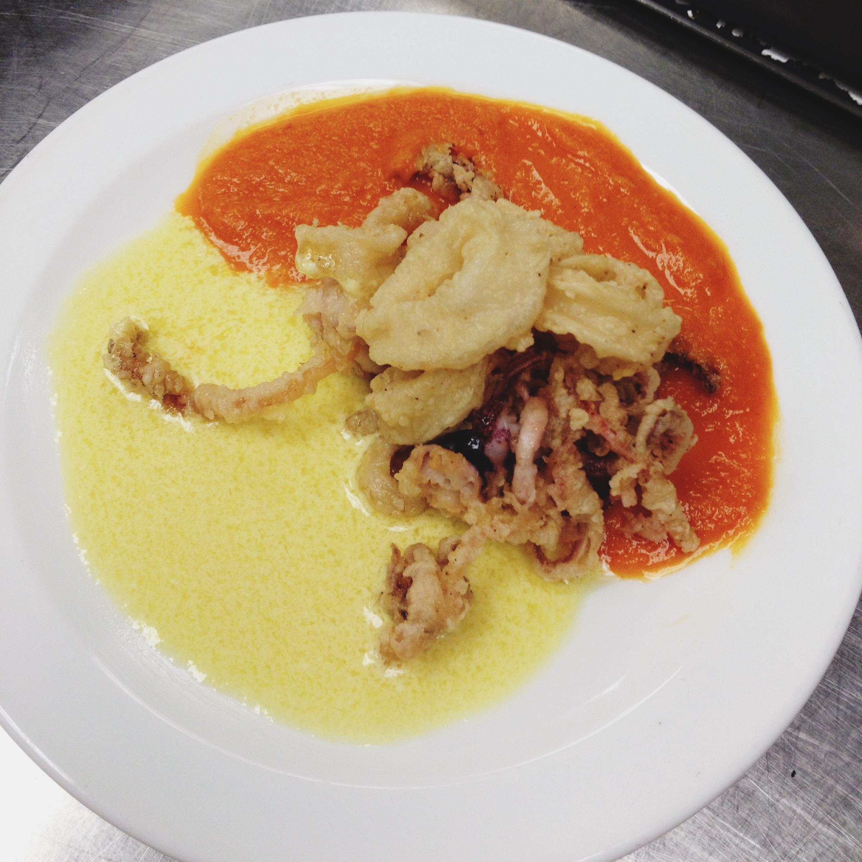 Deep-Fried Calamari with Two Sauces