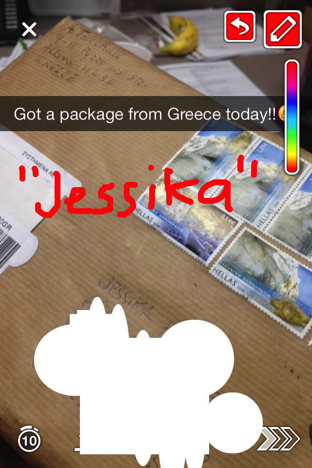 Package from Greece