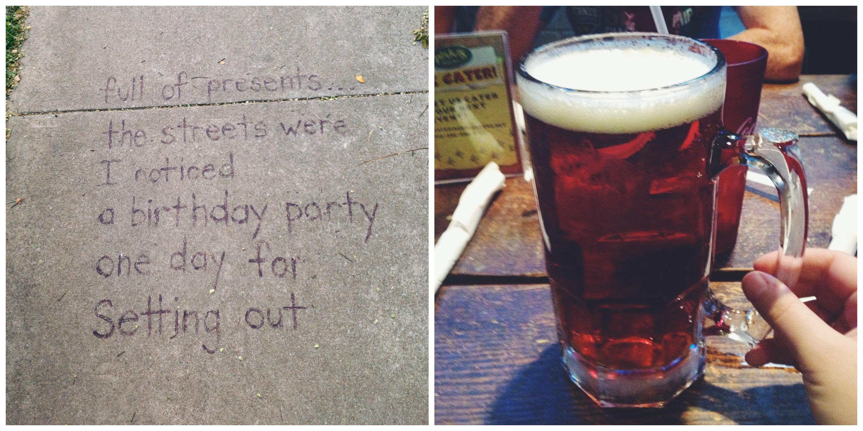 A Sidewalk Poem + A Beer