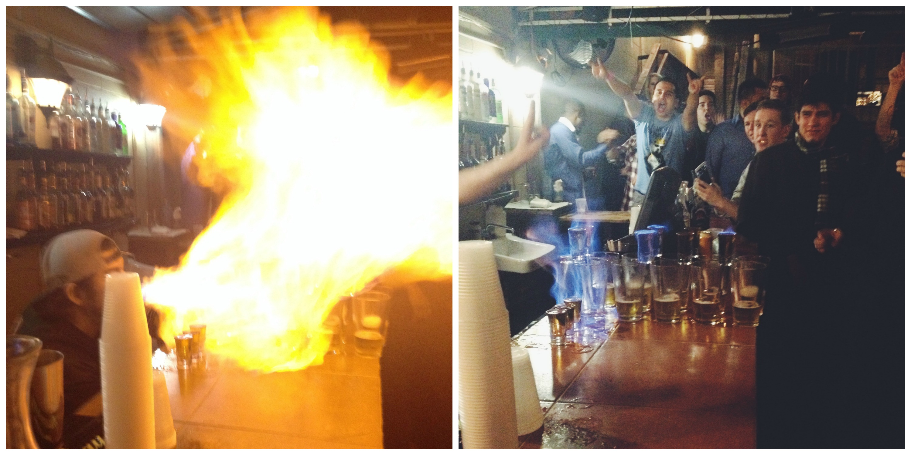 Flaming Dr. Pepper Shots