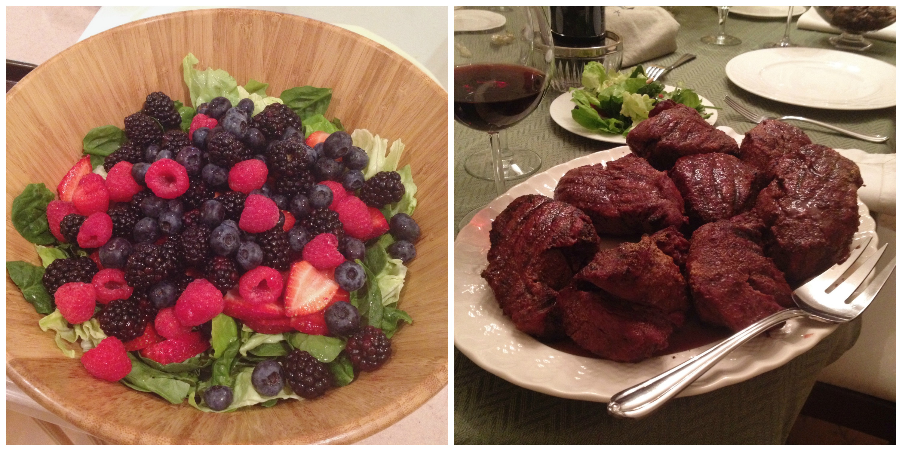 Steak + The Makings of a Salad
