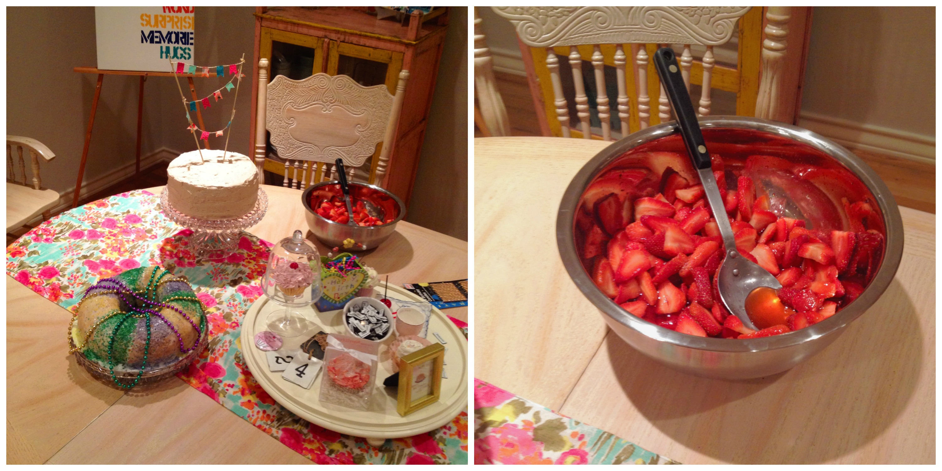 Strawberries + The Table