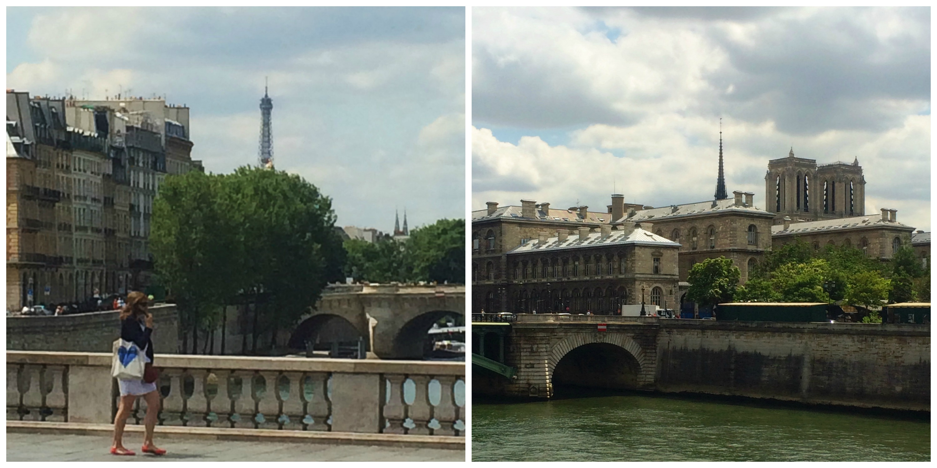First Glimpse of the Eiffel