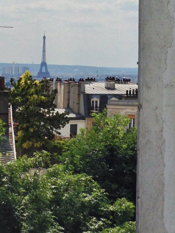 The Eiffel Tower from Montmartre