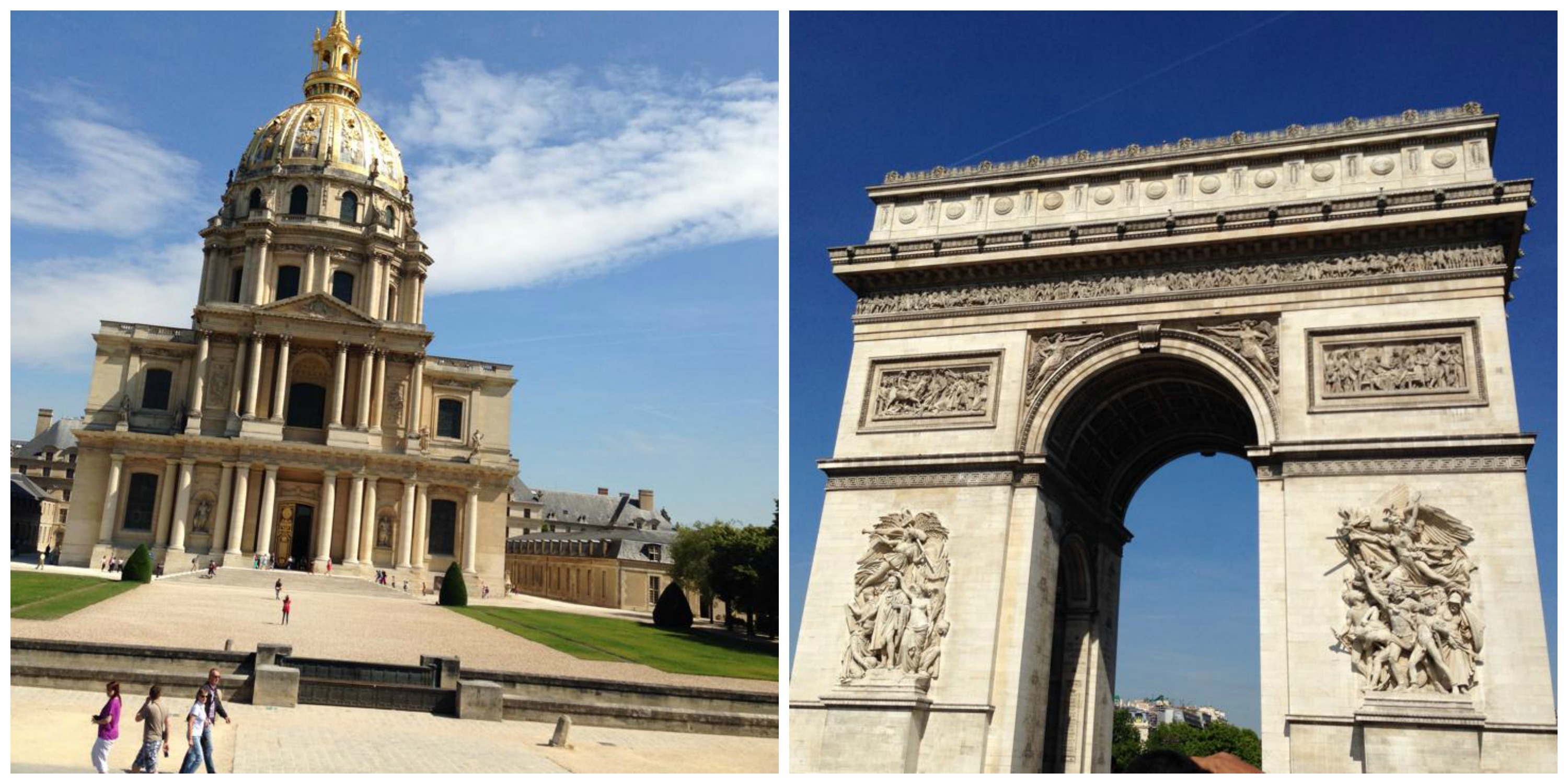 Hotel des Invalides and Arc de Triomphe