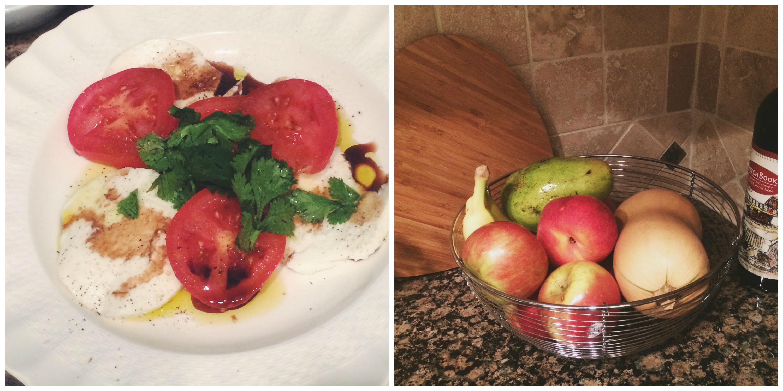 Caprese + Full Fruit Bowl