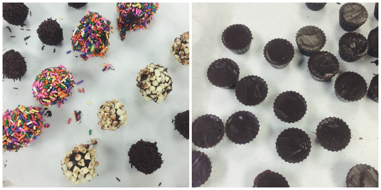 Chocolate Truffles + Peanut Butter Cups