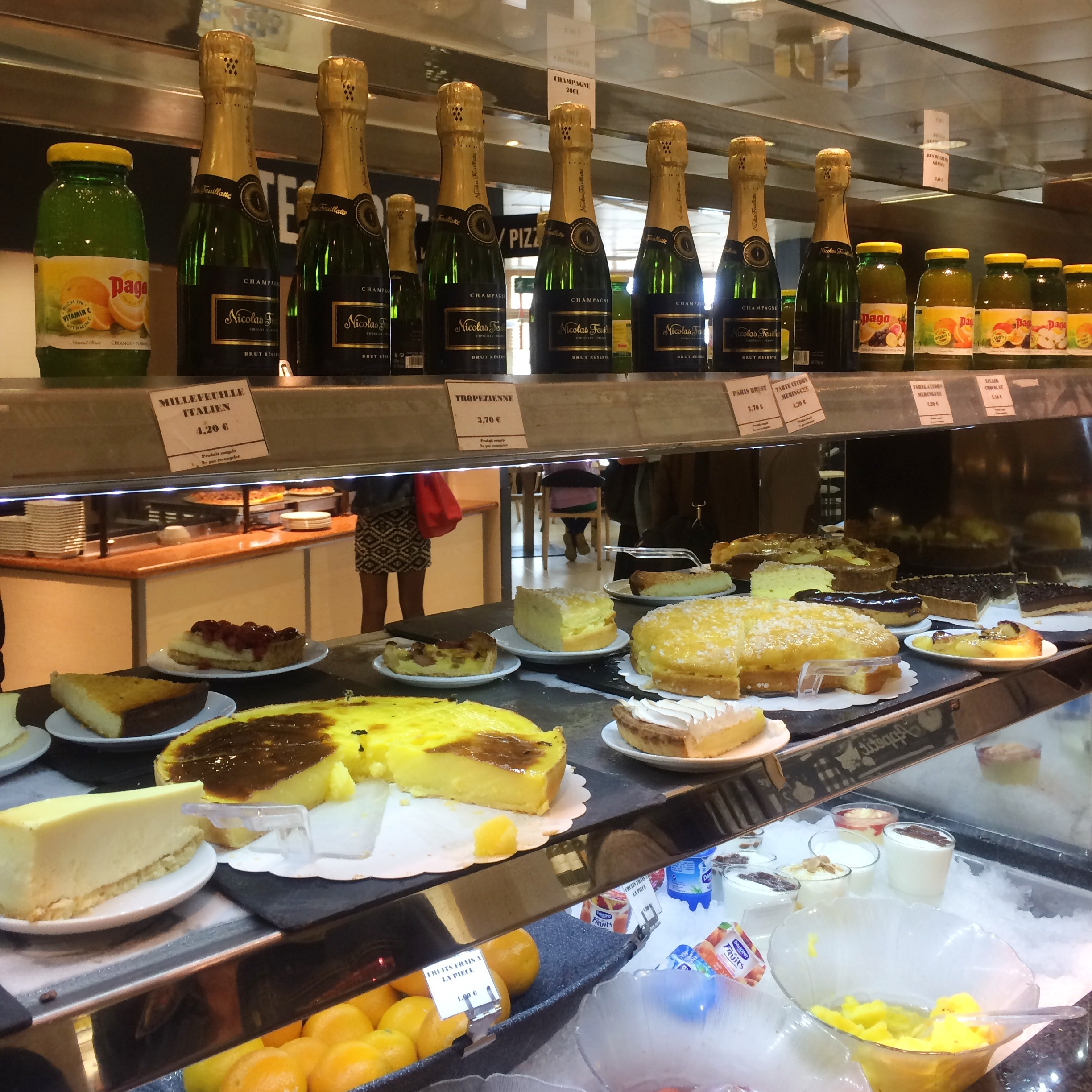 Desserts and Champagne at the Cafeteria