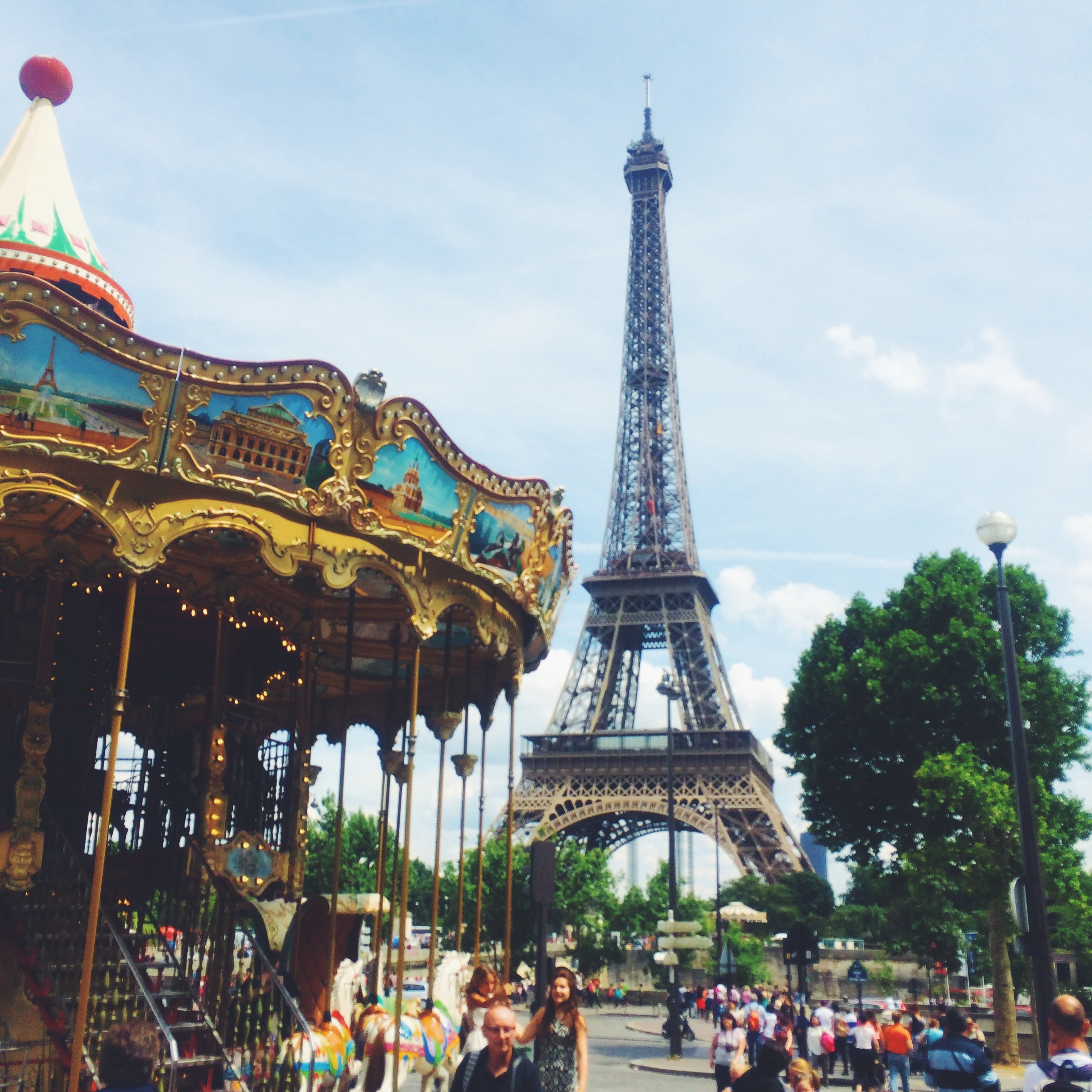 Carousel + Eiffel Tower
