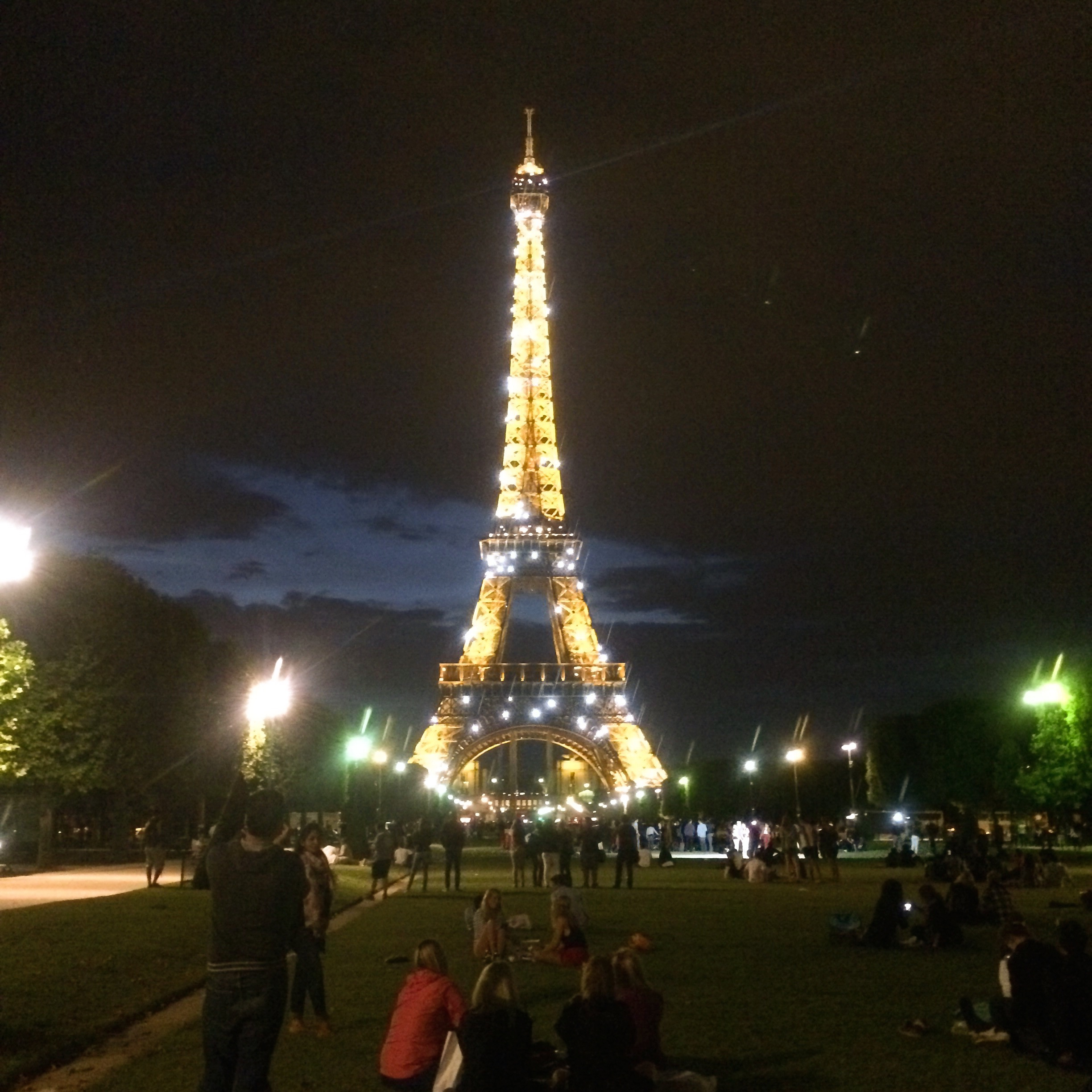 The Eiffel Tower During the Light Show