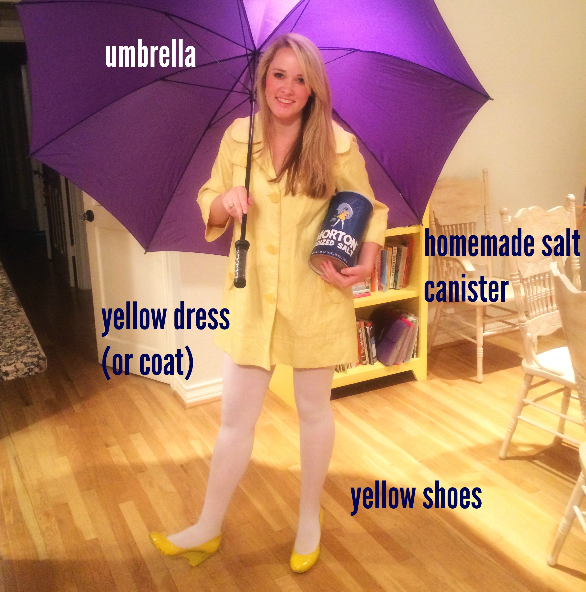DIY Morton Salt Girl Costume