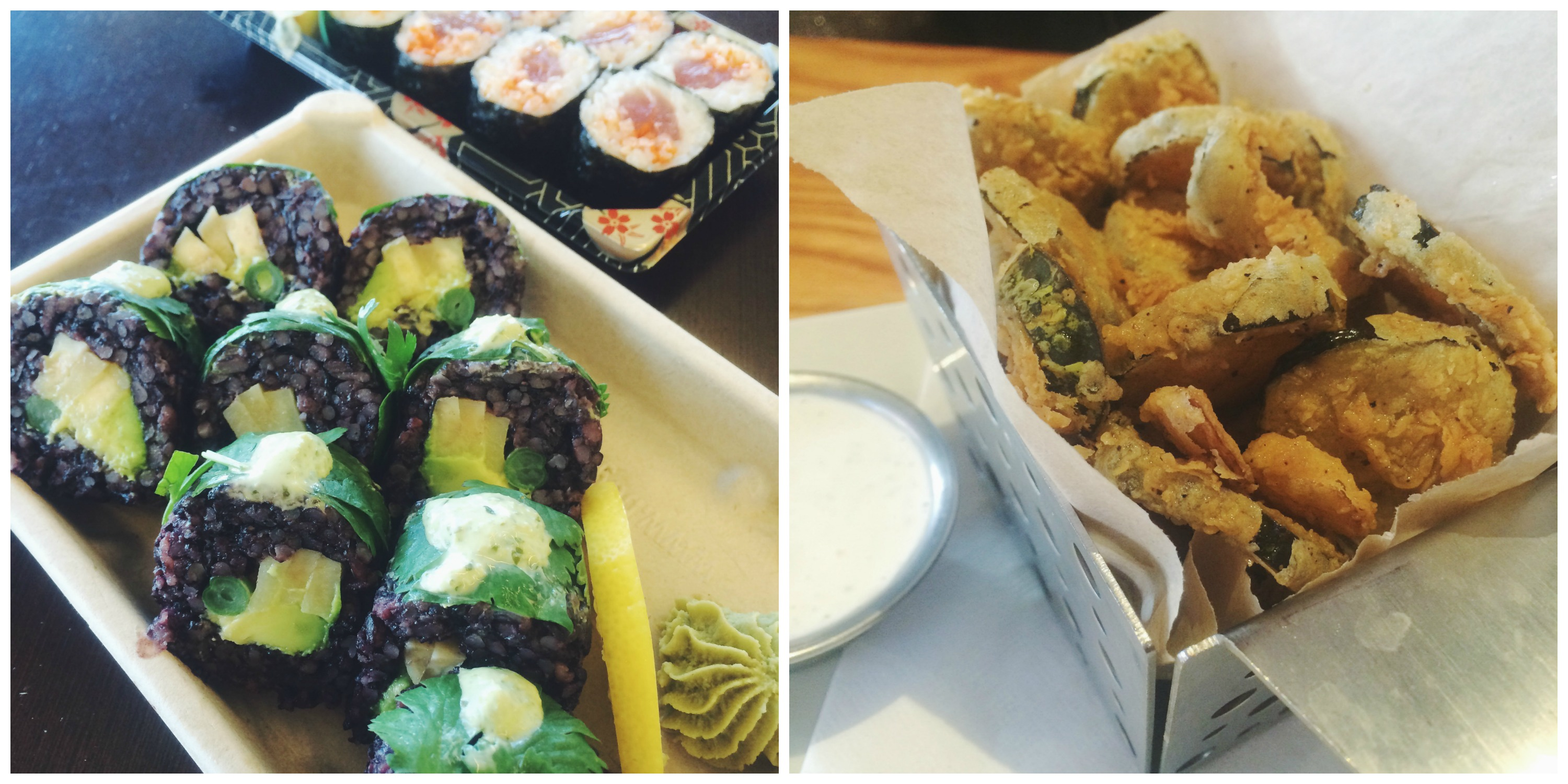 Sushi & Fried Pickles