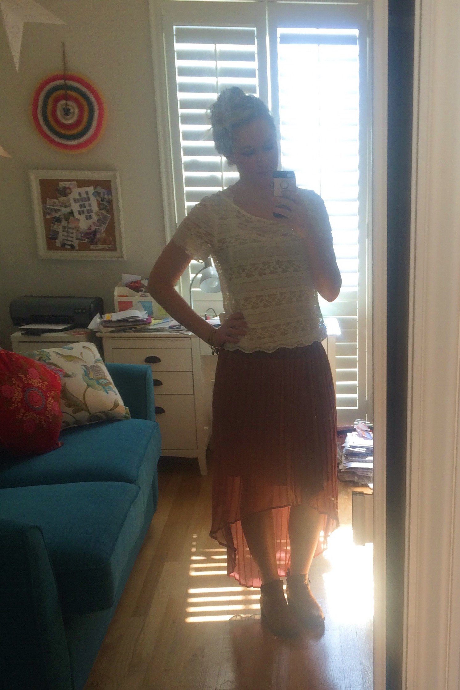 With the sun in my skirt