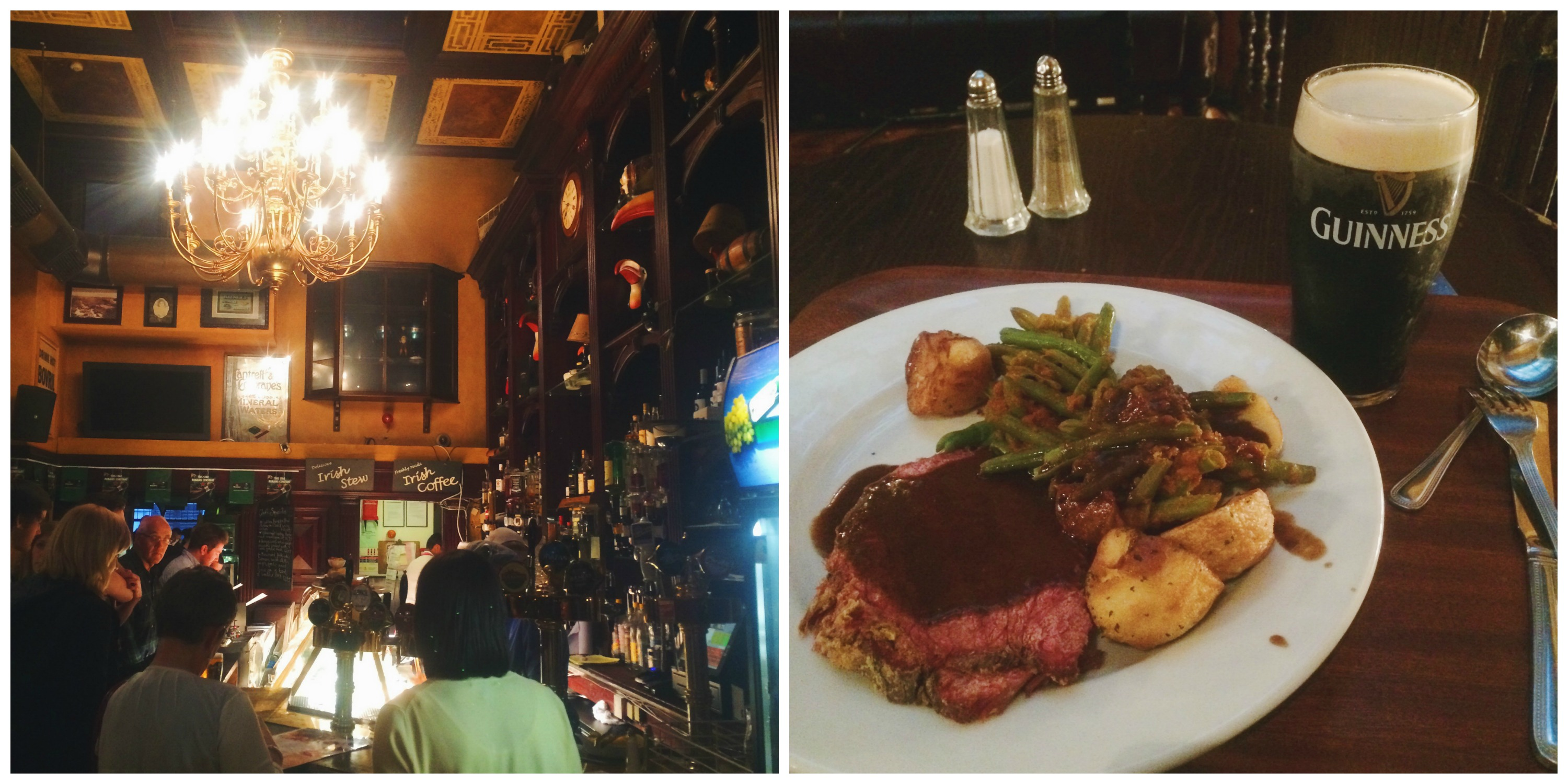 Irish Meal at O'Neills