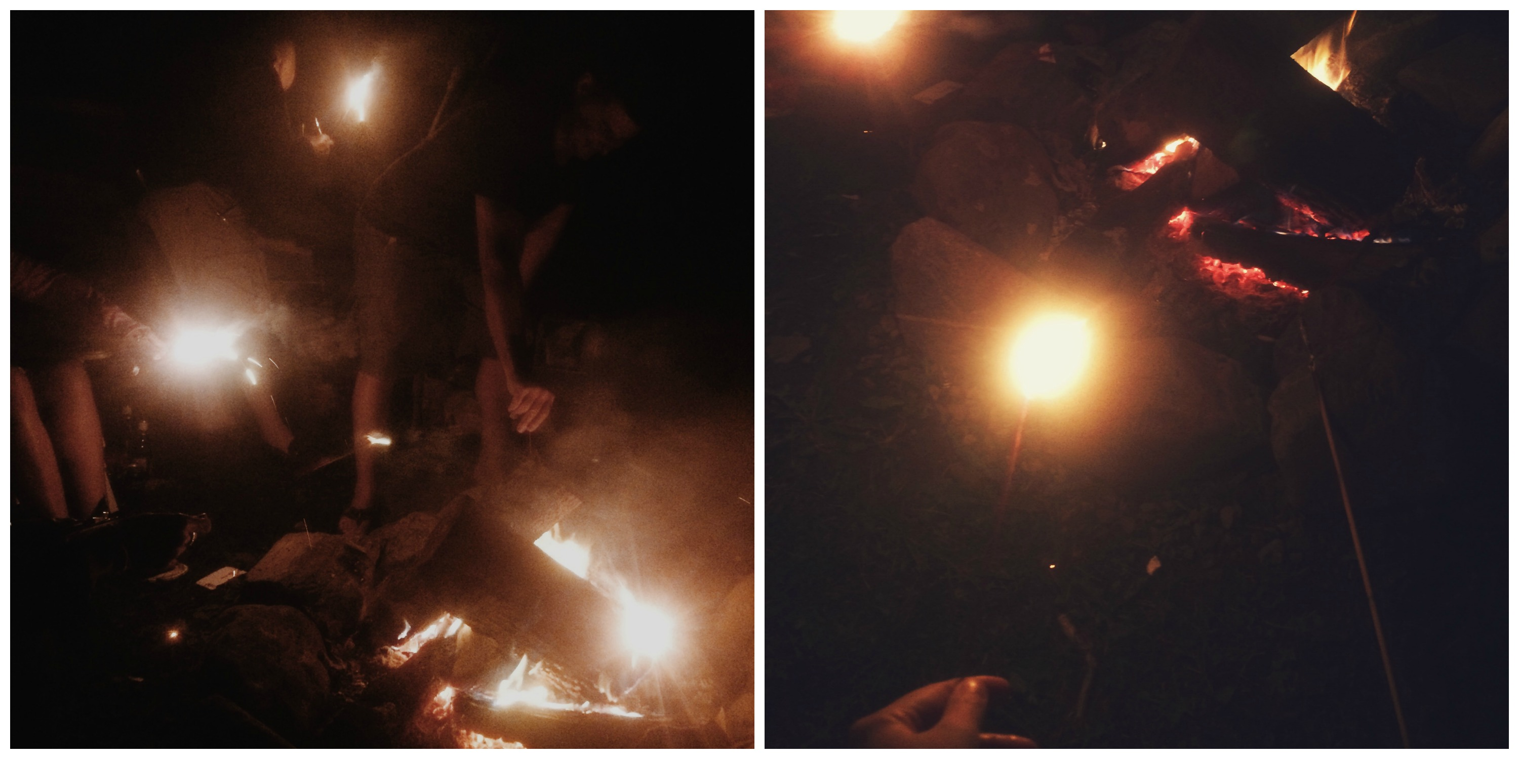 Sparklers by the Campfire