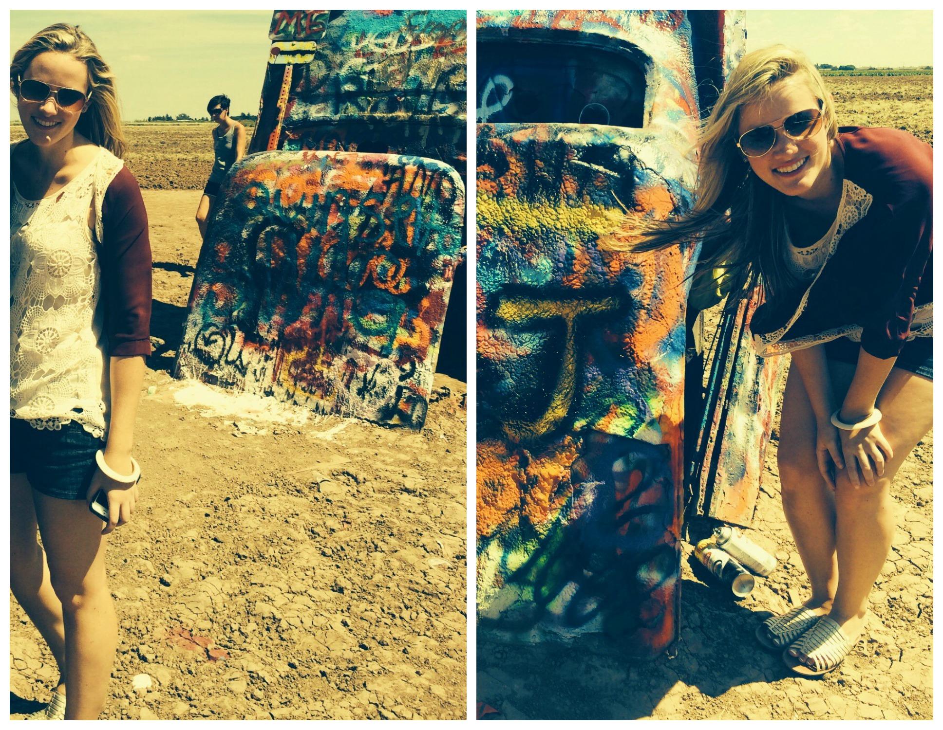 Spray Painting the Cadillacs!