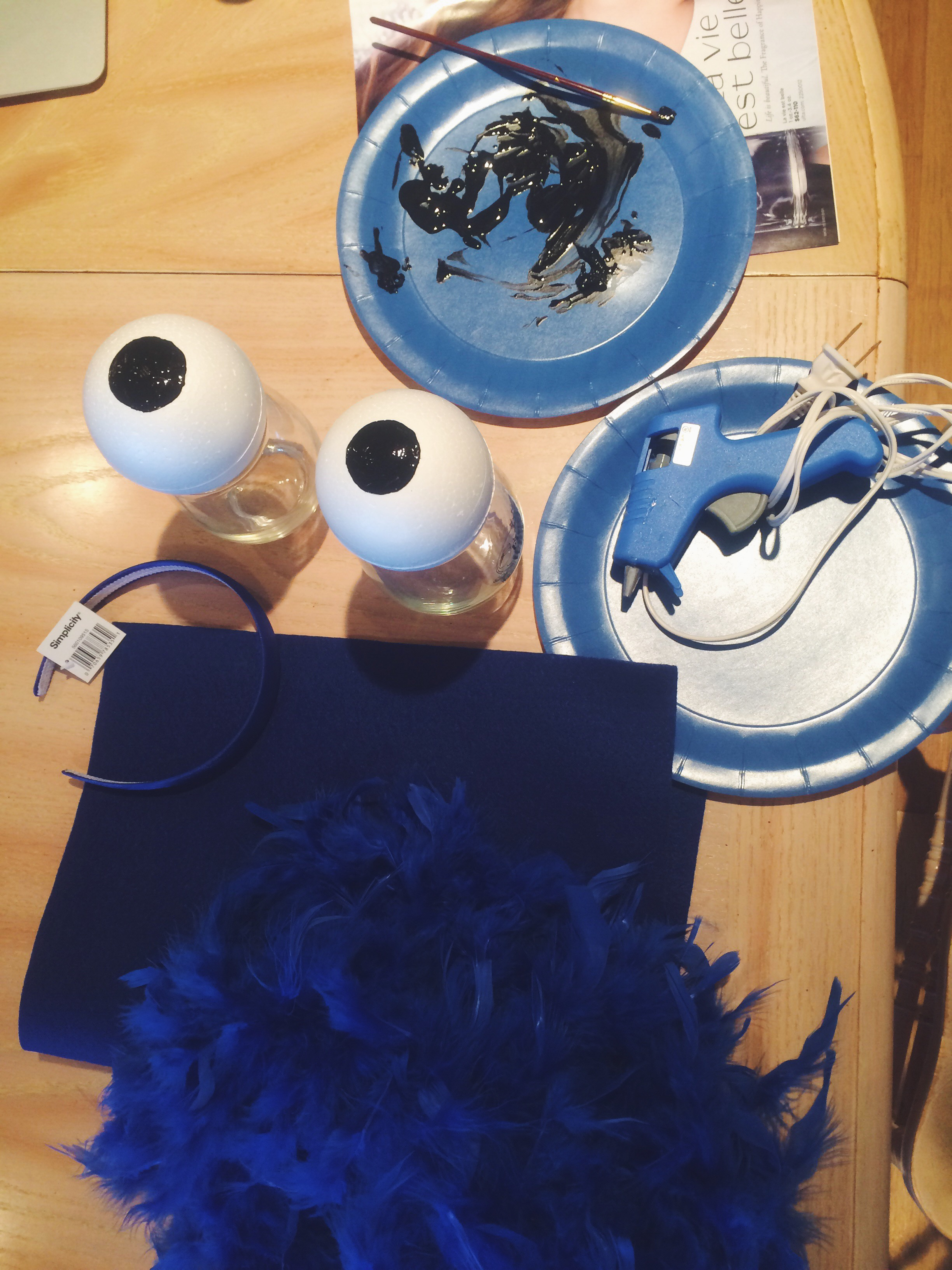Making the Cookie Monster Headband