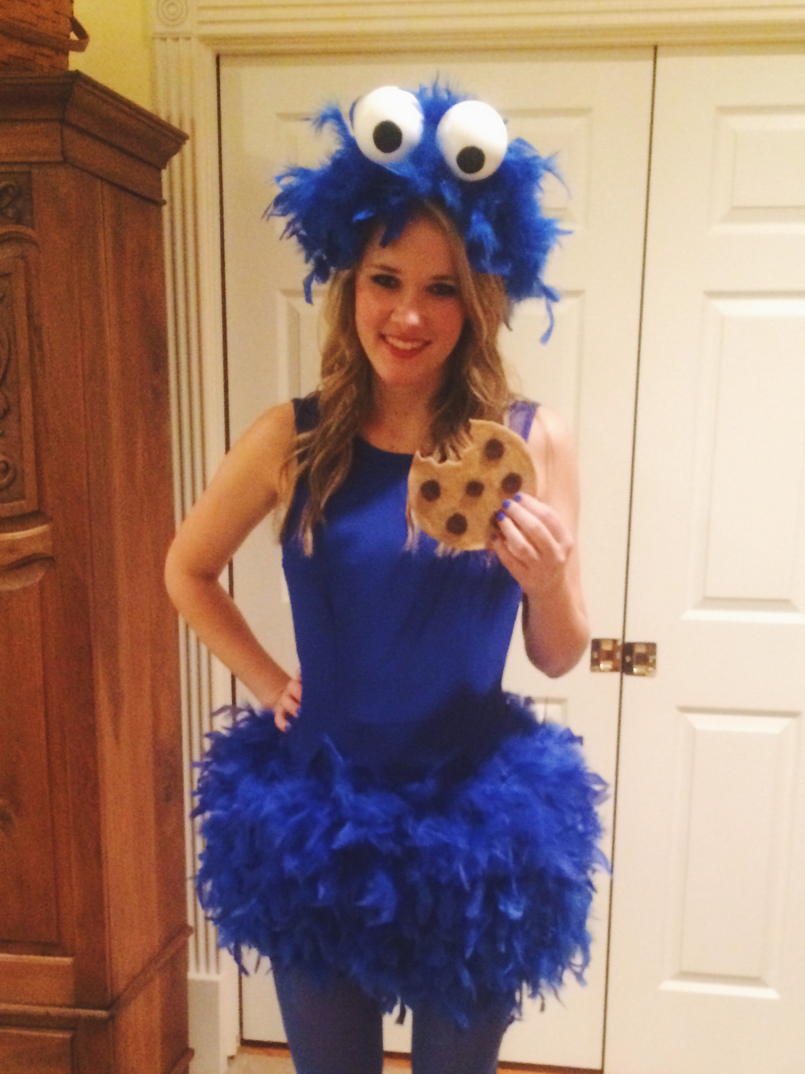 sc 1 st  A Bit of Sweet and Color & DIY cookie monster costume