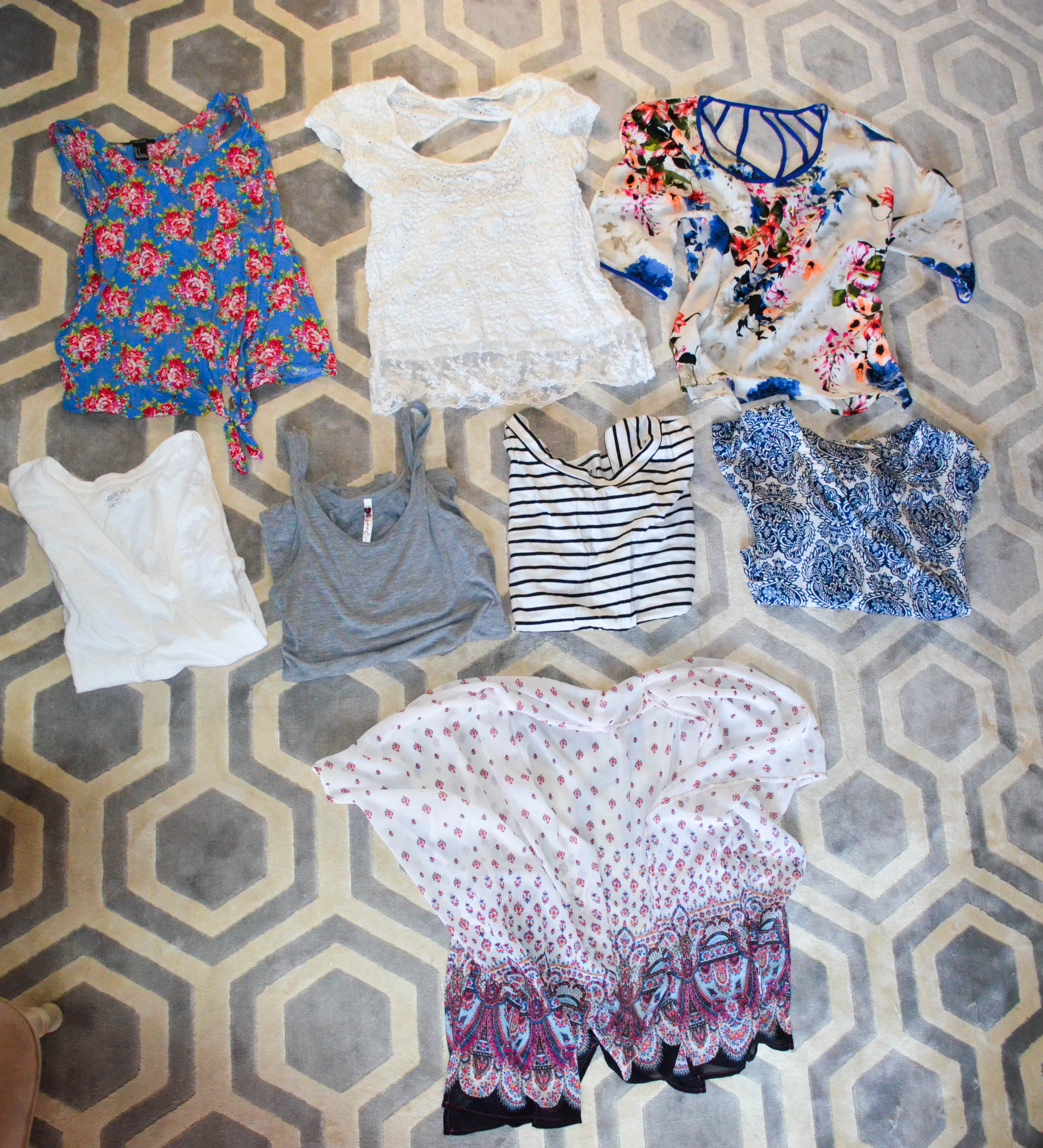 What I Packed: Tops