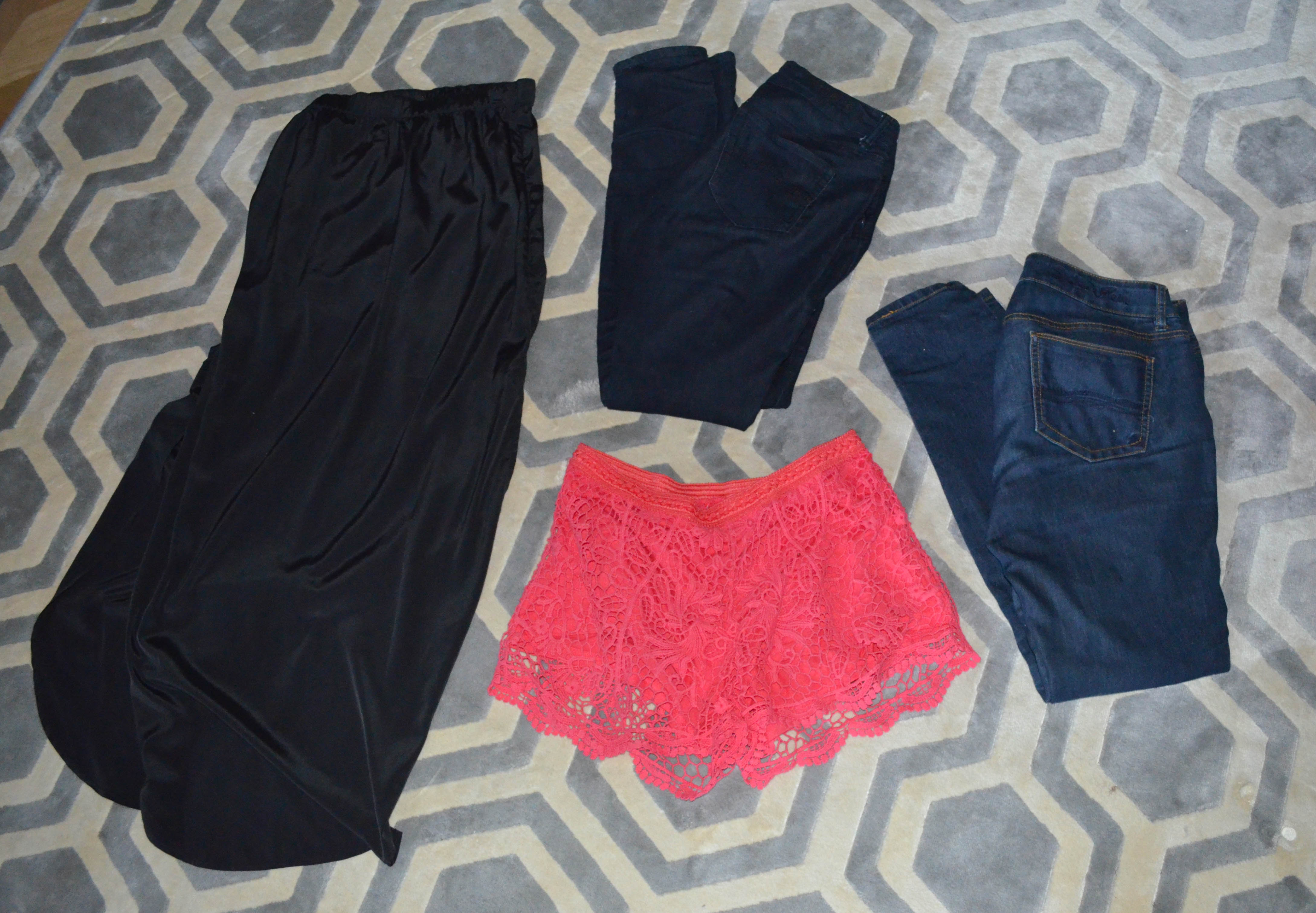 What I Packed: Bottoms