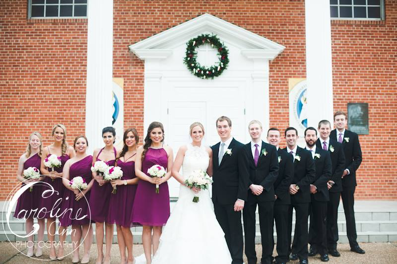 The Wedding Party at the Church