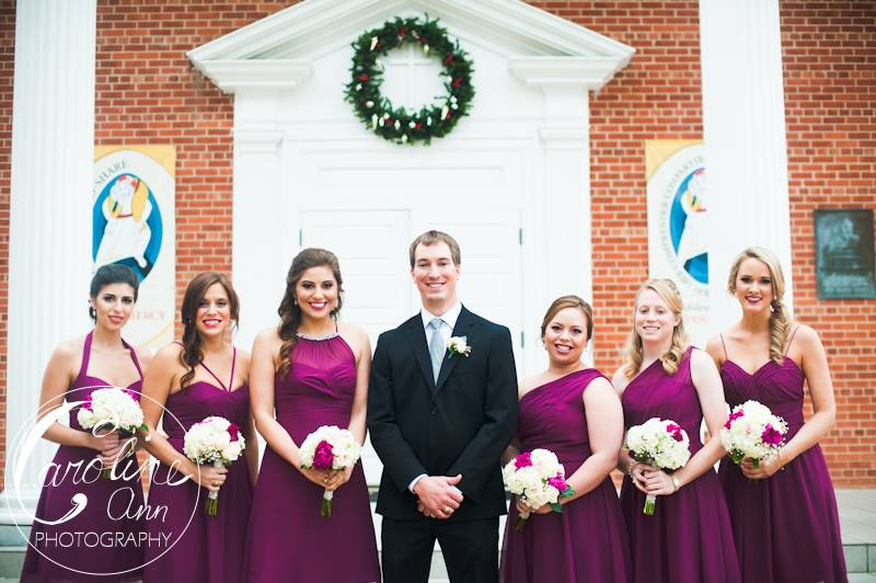 The Bridesmaids with the Groom!
