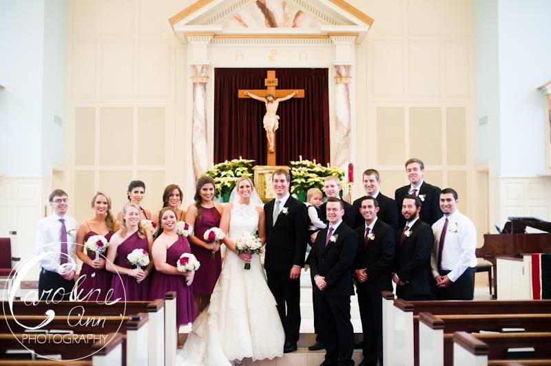 The Wedding Party in the Church