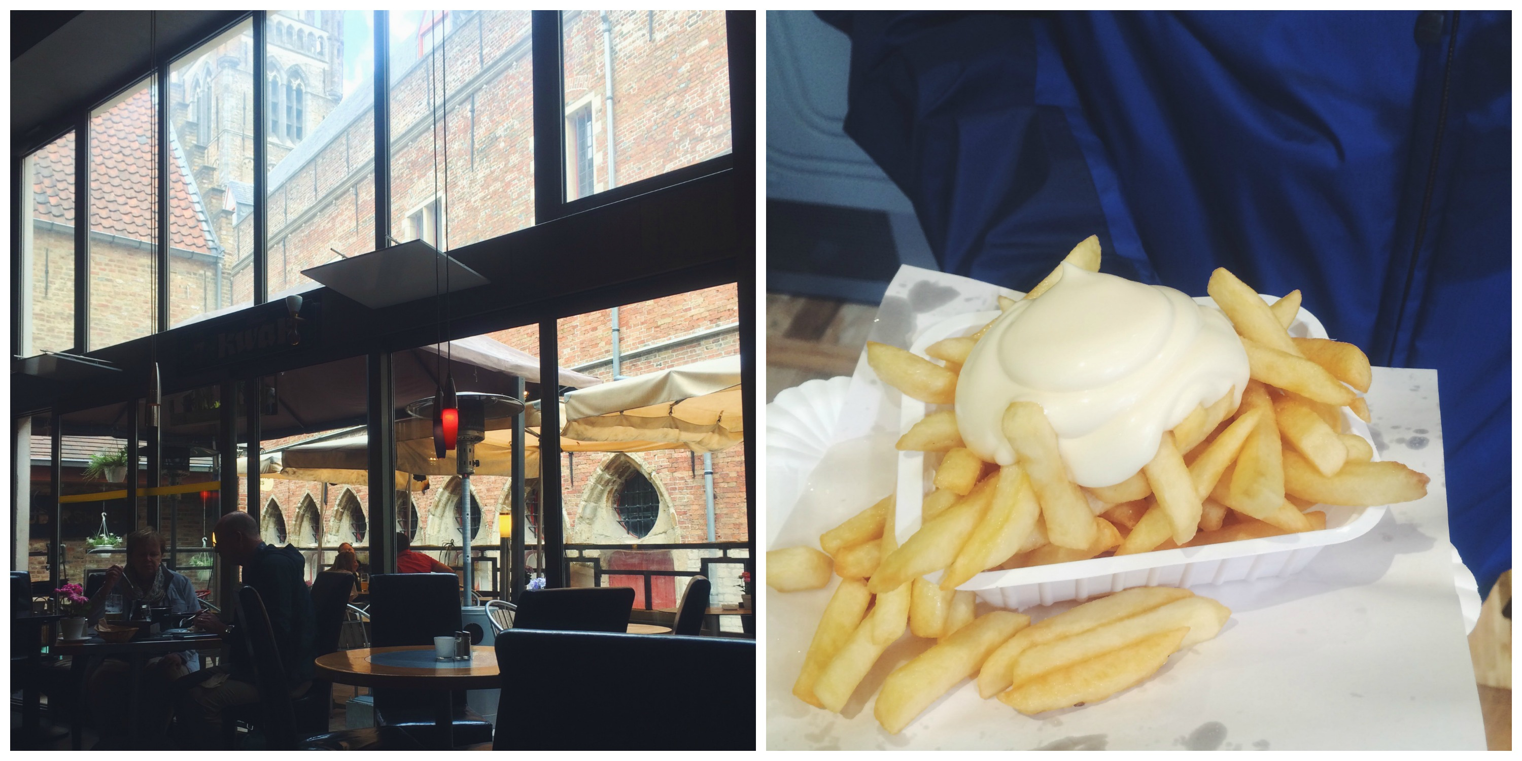 Lunch + Fries in Bruges