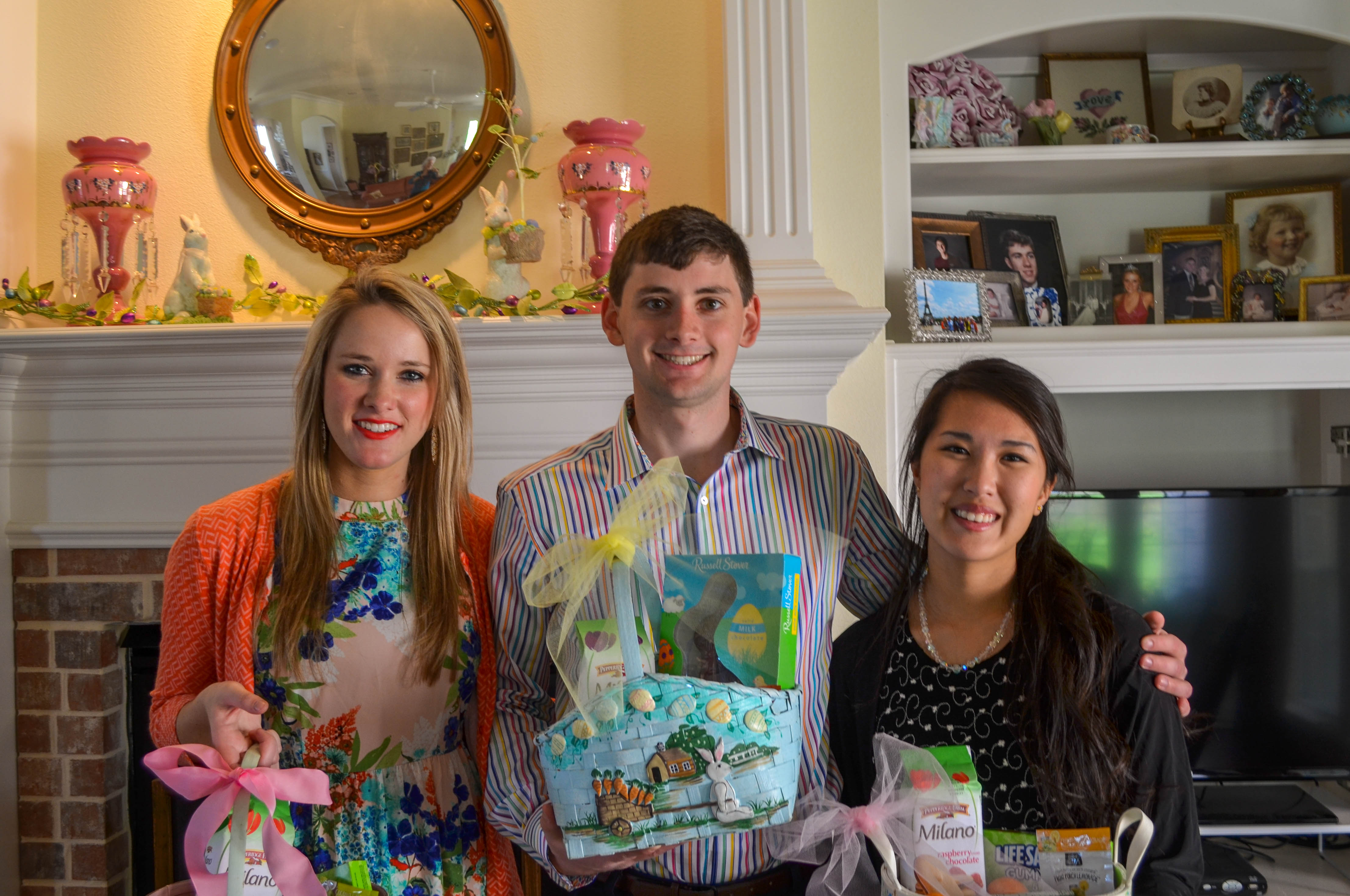 With Our Easter Baskets!