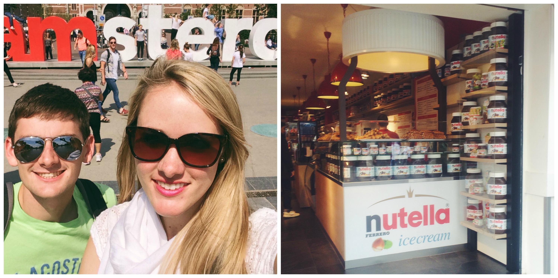 Amsterdam Sign + Nutella Store