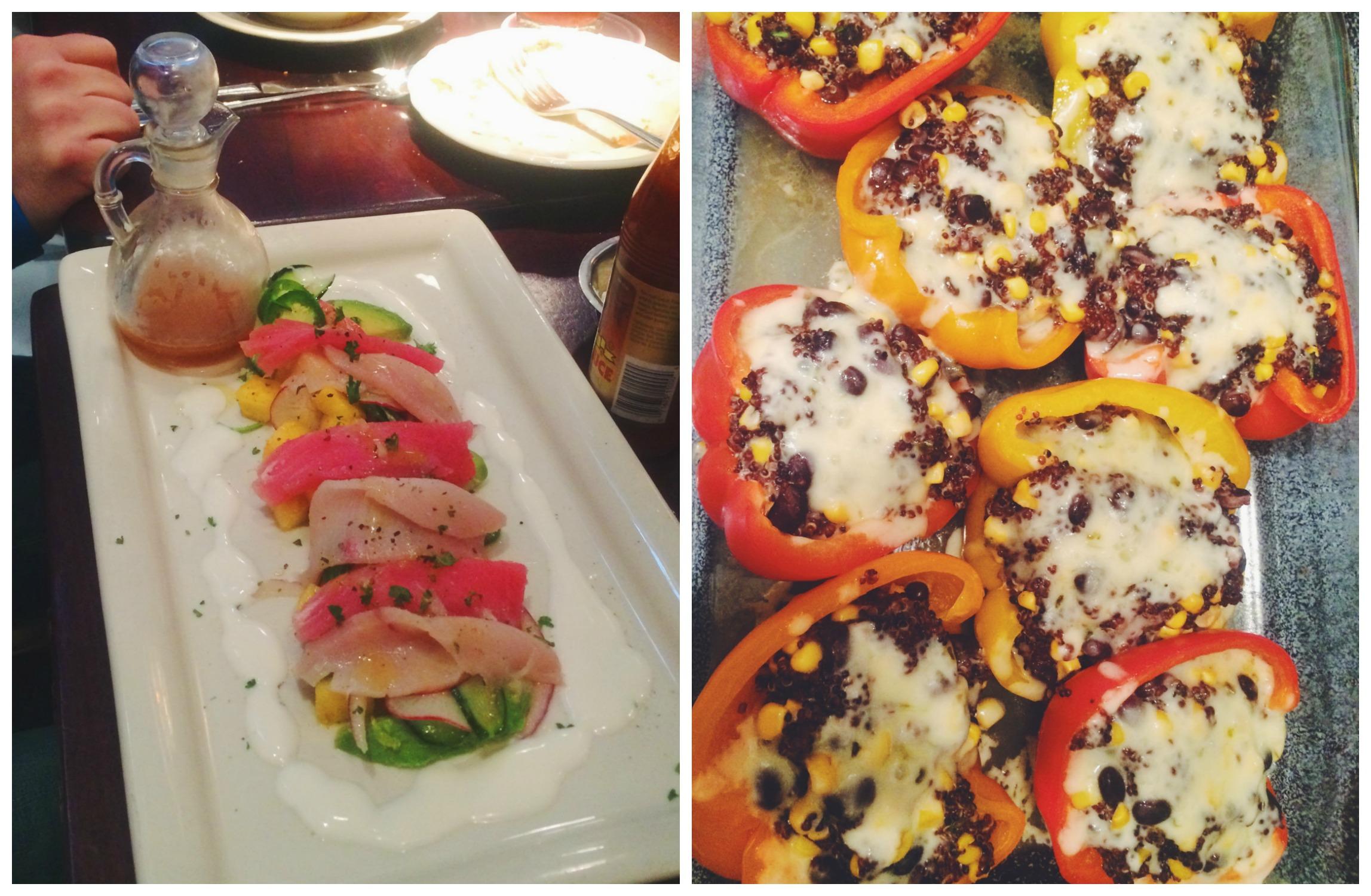 Sashimi + Stuffed Peppers