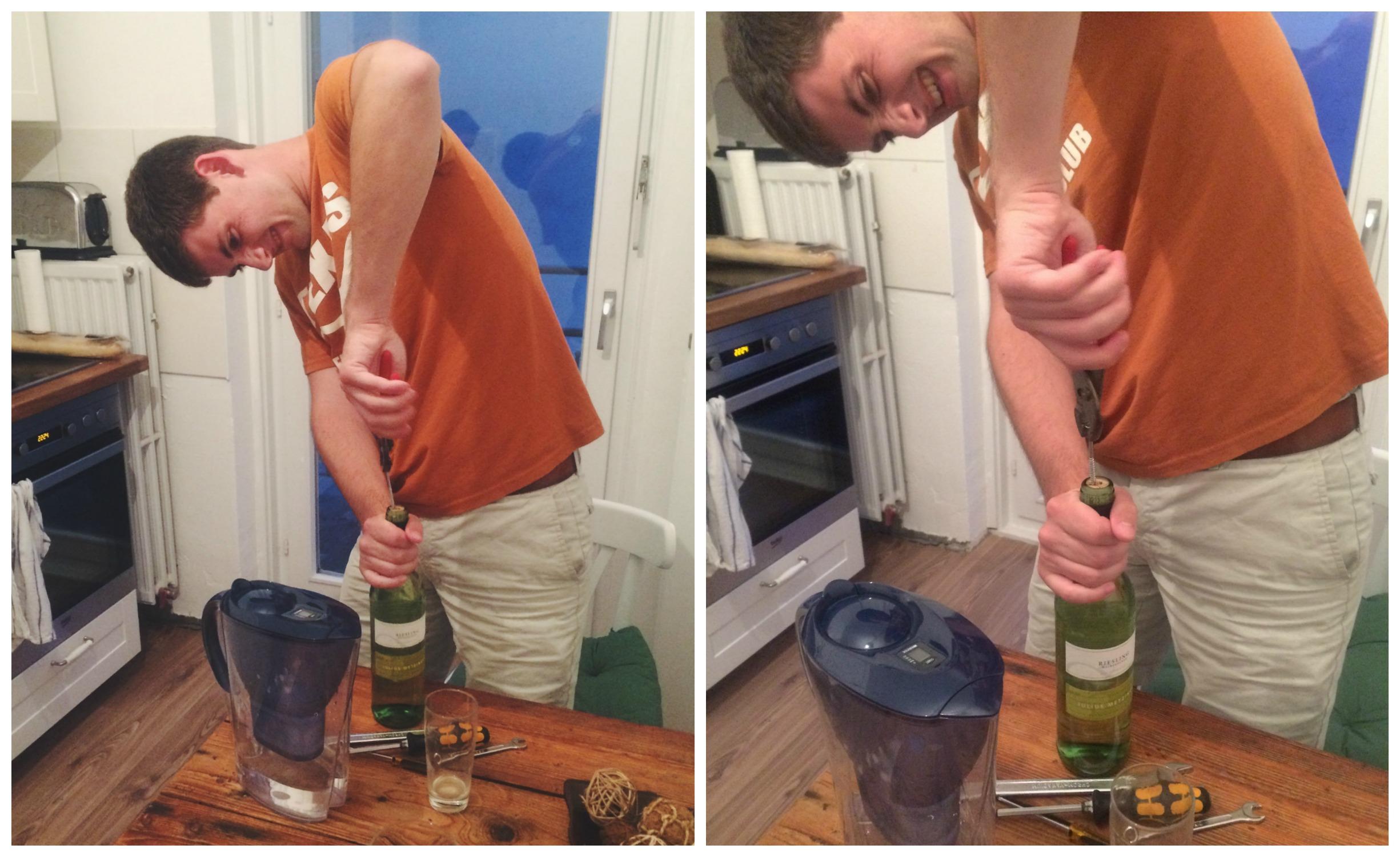 No Wine Opener!