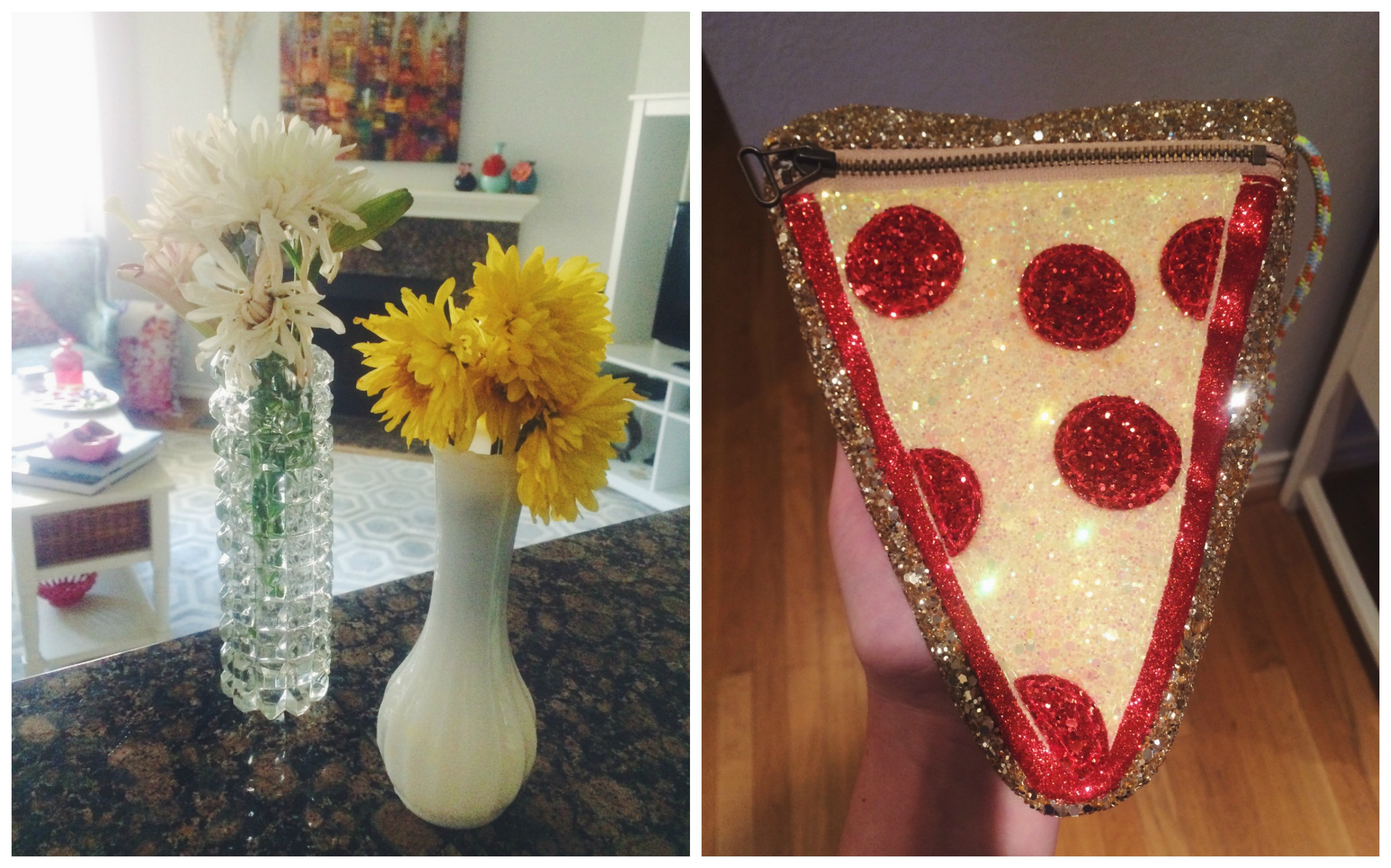 Flowers + Pizza Purse