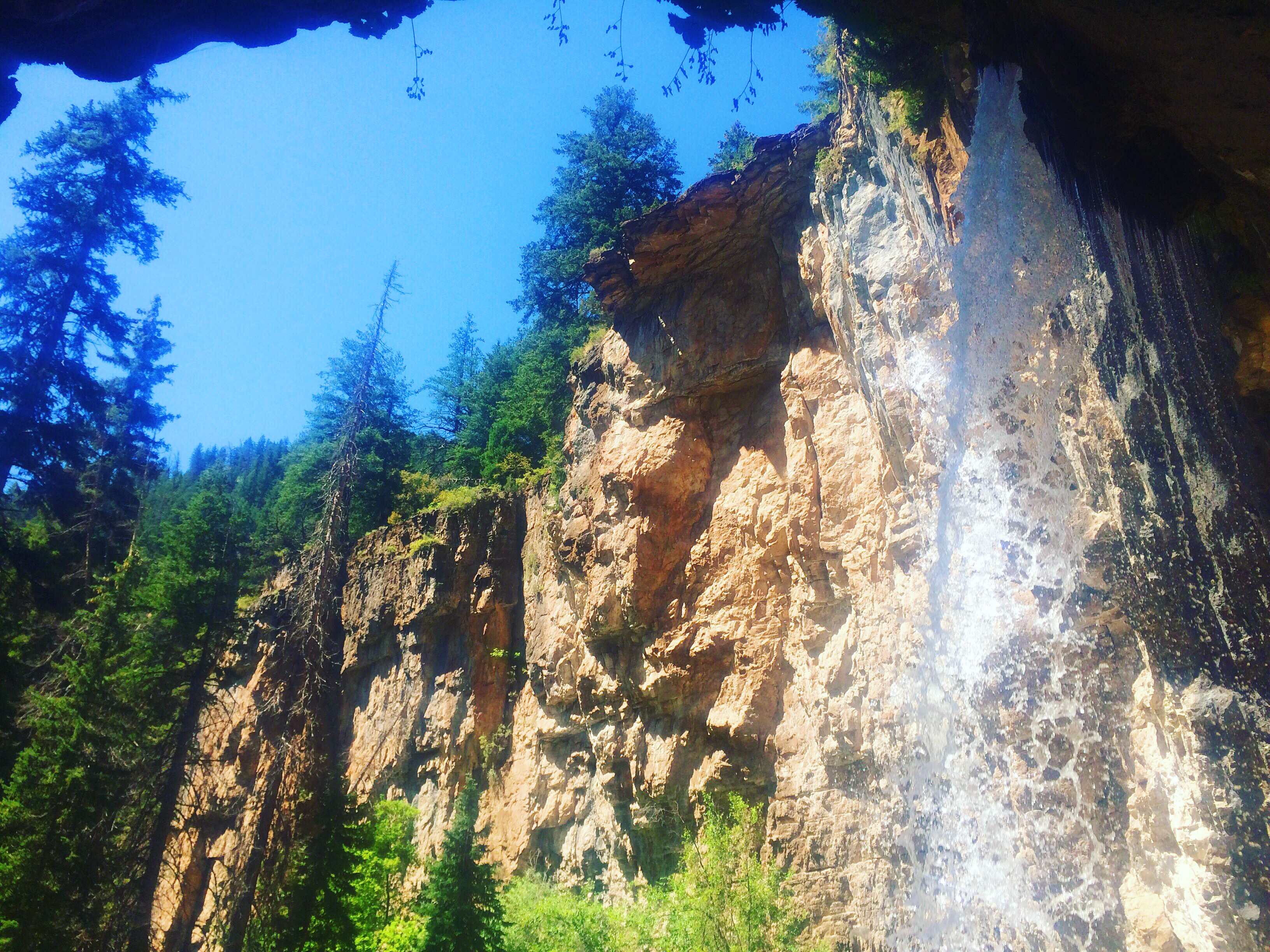Behind the Waterfall