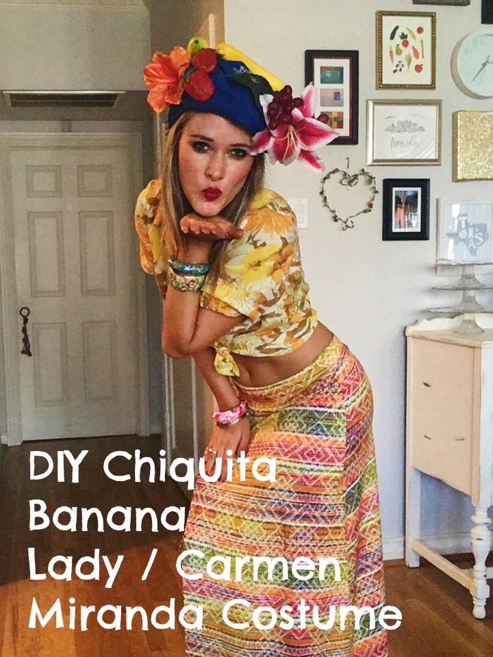 DIY Chiquita Banana Lady / Carmen Miranda Costume